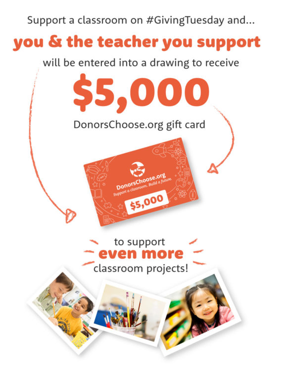 How to enter the #GivingTuesday GIVEaway