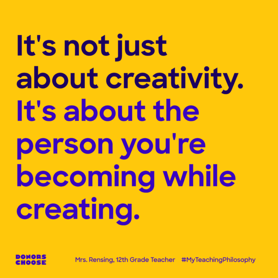 It's not just about creativity. it's about the person you're becoming while creating