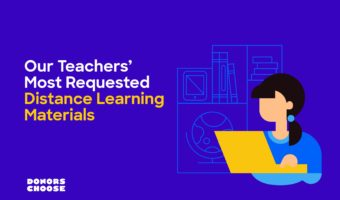 What materials do students and teachers need for distance learning? We asked our data!