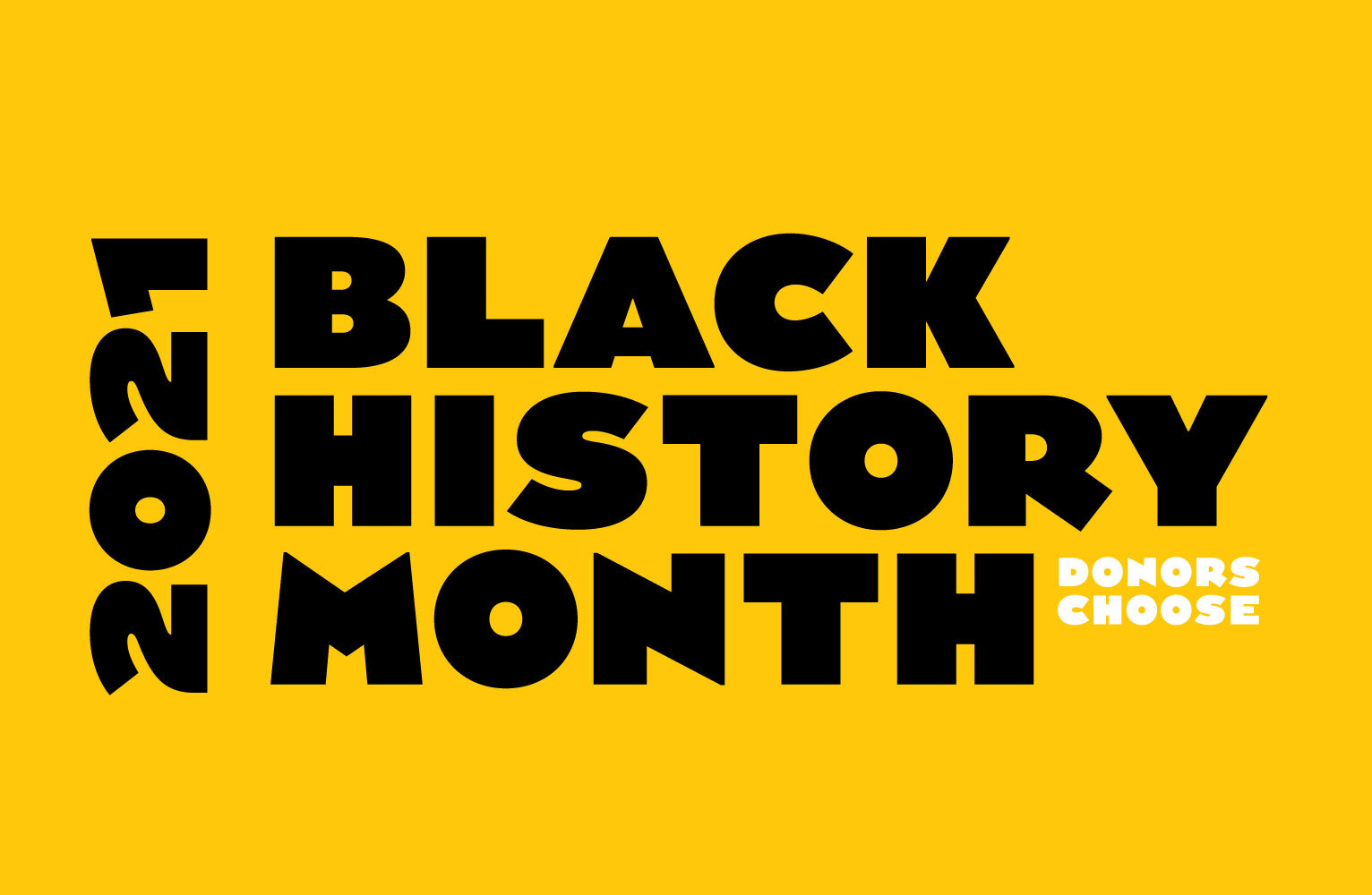 2021 Black History Month DonorsChoose